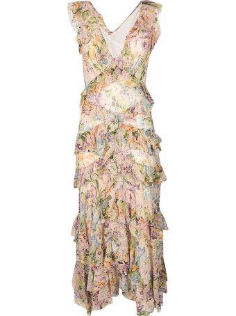 Zimmermann Flutter Chiffon Maxi Dress