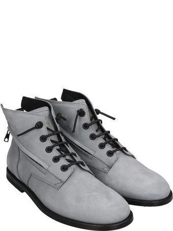 Bruno Bordese Ankle Boots In Grey Nubuck