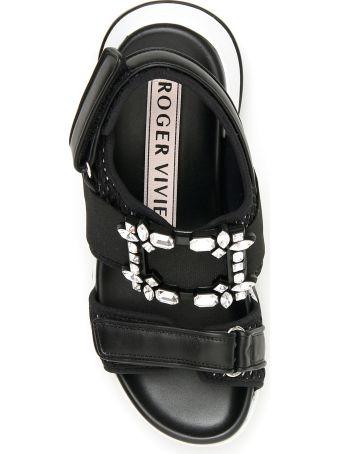 Roger Vivier Viv Run Strass Buckle Sandals