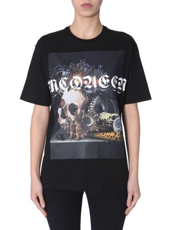 Alexander McQueen T-shirt With Style Nature Print