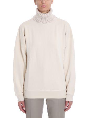 Helmut Lang Beige Cotton Sweatshirt