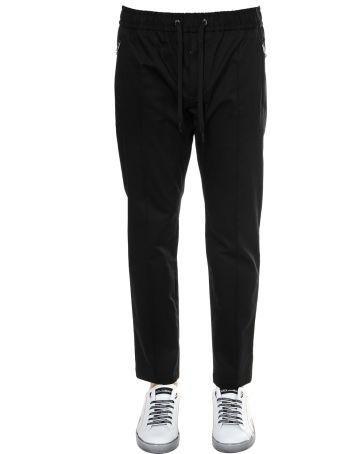 Dolce & Gabbana Black Cotton Track Pants