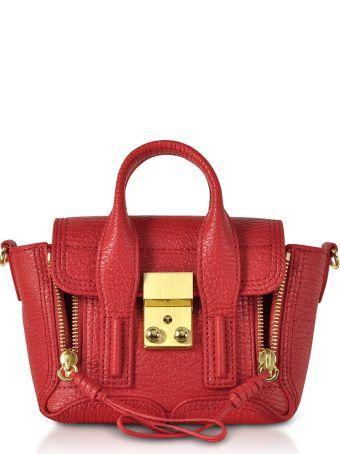 3.1 Phillip Lim Red Leather Pashli Nano Satchel Bag