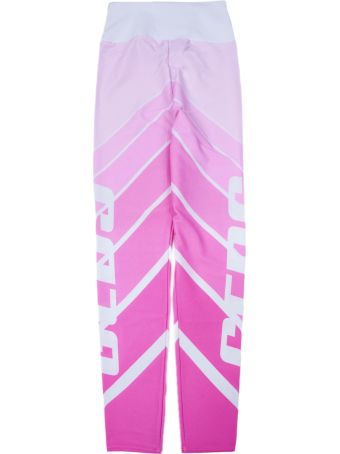 GCDS White And Pink Leggings