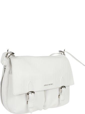 Orciani Double Buckle Shoulder Bag