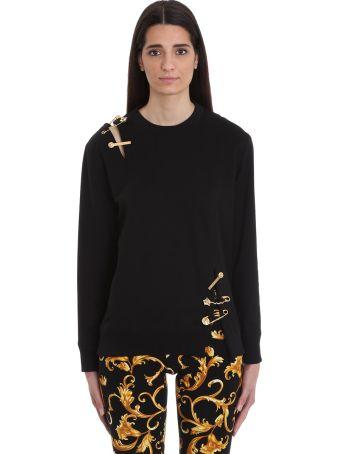 Versace Cut Out Black Cotton Sweatshirt