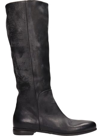 Marsell Black Leather Boots