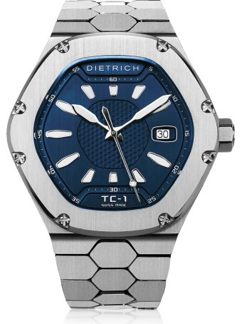 Dietrich Tc-1 Ss 316l Steel W/white Luminova And Blue Dial