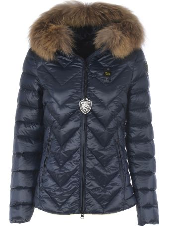 Blauer Fur Trim Down Jacket
