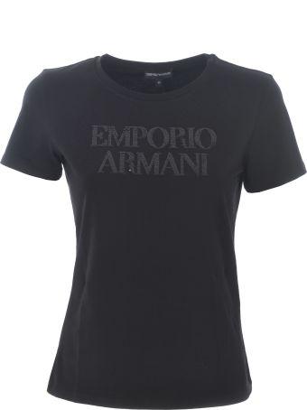 Emporio Armani Sequin Logo T-shirt