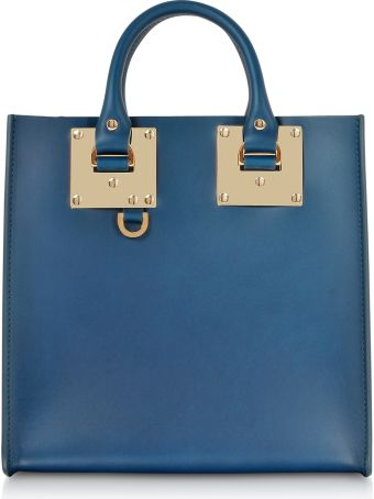 Sophie Hulme Blue Canard Albion Square Tote