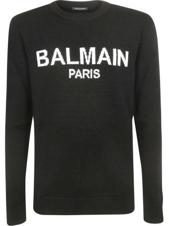 Balmain Logo Print Sweater
