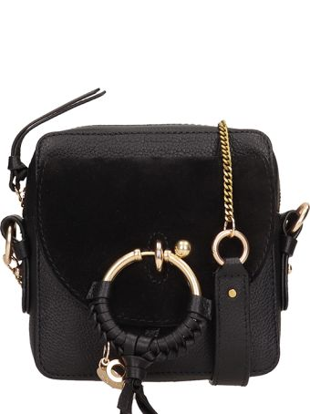 See by Chloé Black Leather Joan Mini Bag In Suede