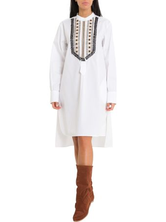 Alberta Ferretti Mandarin Collar Shirt-dress