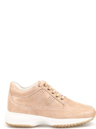 Hogan Interactive Drilled H Shiny Suede Sneakers Hxw00n00e30kaym013