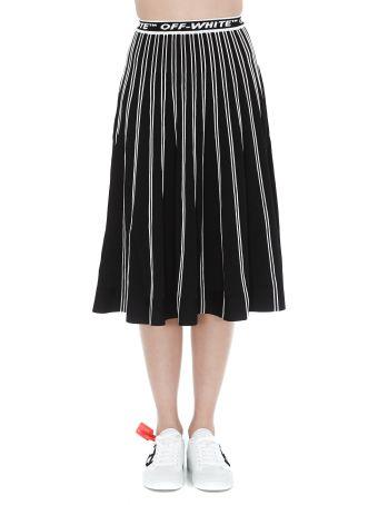 Off-White Knit Plisse' Skirt