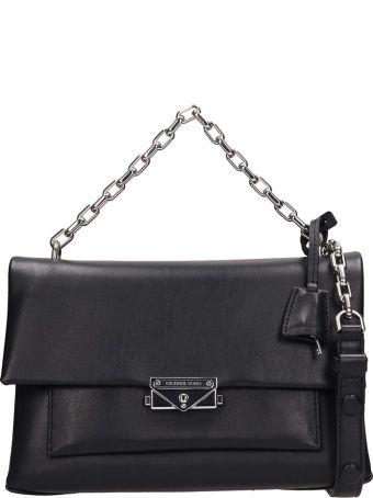 Michael Kors Black Leather Md Bag