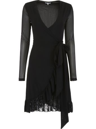 Ganni Tulle Wrap Dress