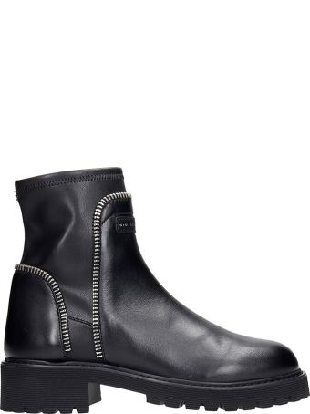 Giuseppe Zanotti Rodge Combat Boots In Black Leather