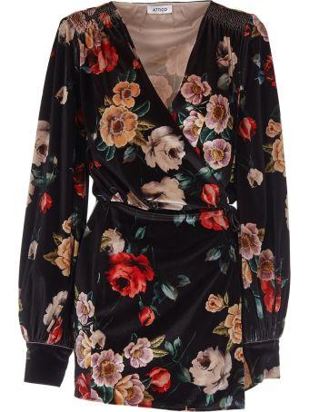 ATTICO Floral Short Dress