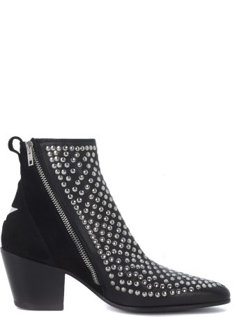 Mexicana Leather And Studs Texan Ankle Boots