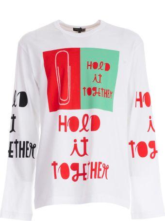 Comme Des Garçons Homme Plus Logo Print Sweater