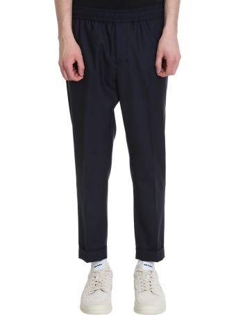 Ami Alexandre Mattiussi Blue Wool Pants