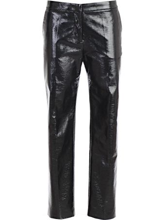 Mantù Mantu Wet Look Cropped Trousers