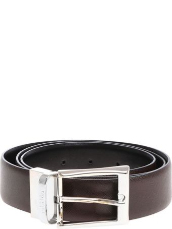 Canali Leather Belt Reversible