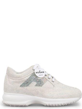 Hogan Interactive Crystal H Shiny Suede Sneakers Hxw00n02011kfs0222