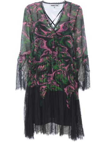 McQ Alexander McQueen Lace Trim Dress