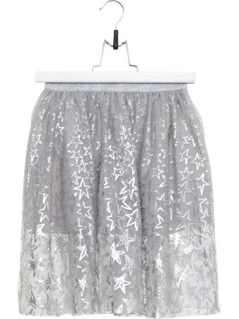 Stella McCartney Full Mini Skirt With Silver Stars