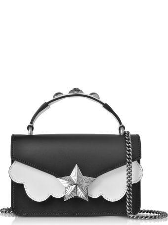 Les Jeunes Etoiles Black&white Leather Vega Mini Shoulder Bag
