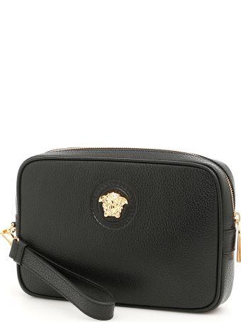 Versace Grain Leather Palazzo Bag