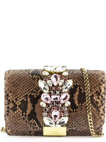 Gedebe Cliky Python Pink Jungle Clutch