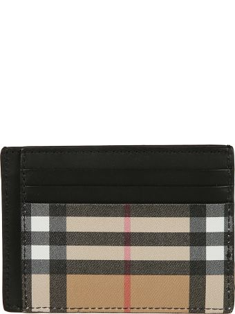 Burberry Checked Card Holder