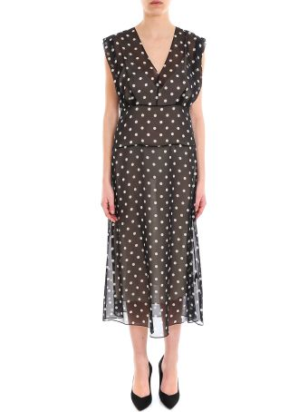 Theory Deep V Easy Midi Dress