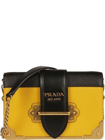 Prada Mini Cahier Shoulder Bag