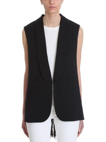 Sonia Rykiel Wool And Macram? Sleeveless Jacket Vest