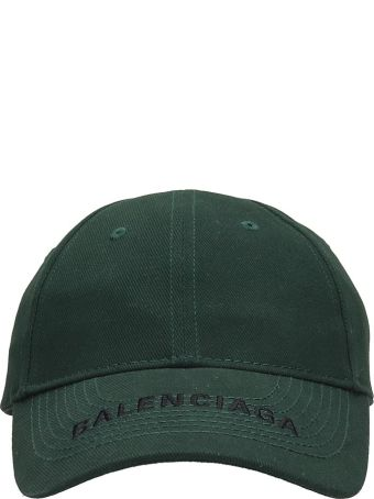 Balenciaga Green Cotton Cap