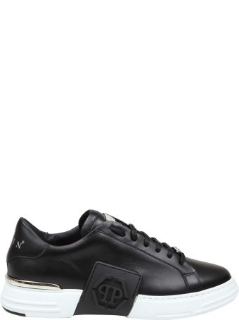 Philipp Plein Philippe Plein Black Sneakers Phantom Lo-top Leather
