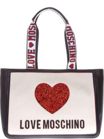 Love Moschino Multicolor Faux Leather Shopping Bag