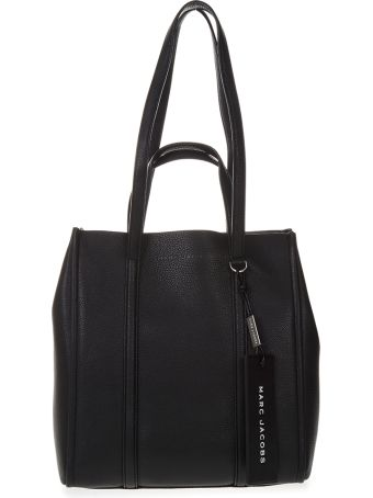 Marc Jacobs Black Tote The Tag Bag In Leather