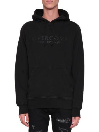 Overcome Black Cotton Hoodie