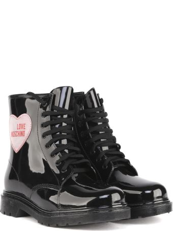Love Moschino Black Ecoleather Ankle Boots