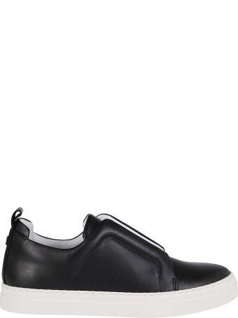 Pierre Hardy Black Leather Slider Sneakers
