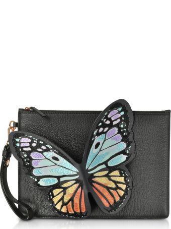 Sophia Webster Black & Rainbow Flossy Butterfly Pouchette
