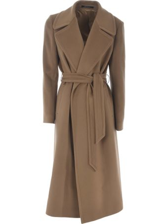 Tagliatore Long Length Belted Coat