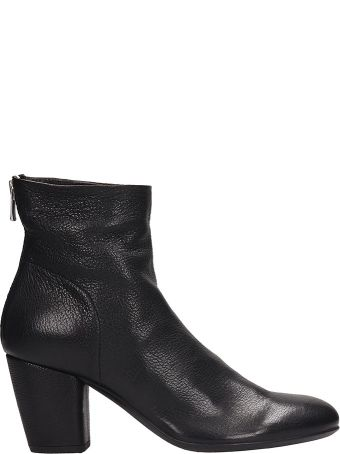 Officine Creative Black Leather Julie Ankle Boots