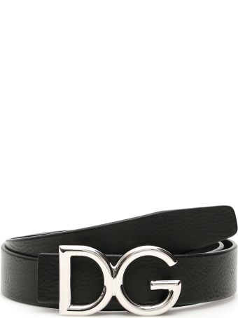 Dolce & Gabbana Dg Grain Leather Belt